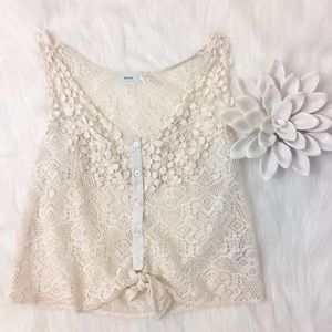 Kimchi Blue Urban Outfitters Tank Top Lace Small
